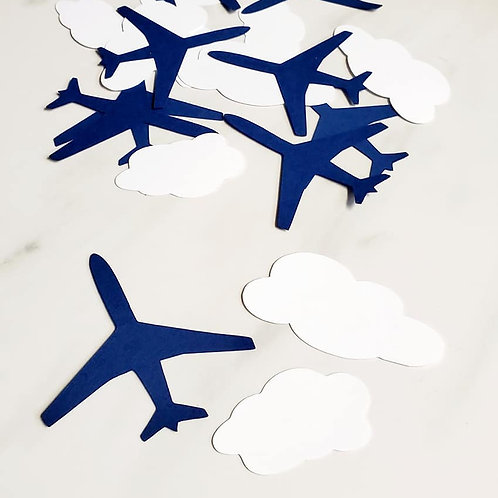 Planes and Clouds Scrapbook Page Confetti