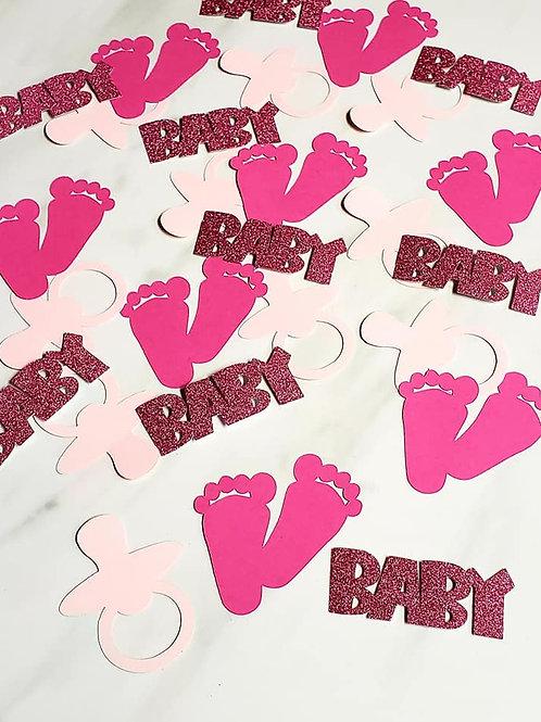 Baby Girl Theme Scrapbook Page Confetti