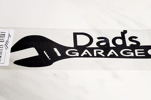 Dad's Garage Scrapbook Deluxe Die Cut