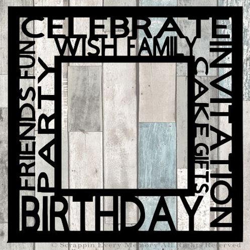 Birthday Tag Text Scrapbook Overlay