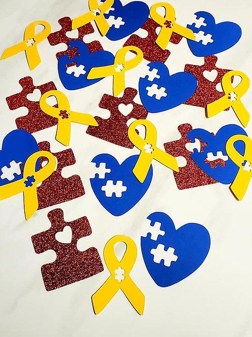 Autism Theme Scrapbook Page Confetti
