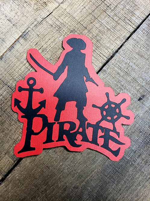 Pirate Paper Piecing Die Cut
