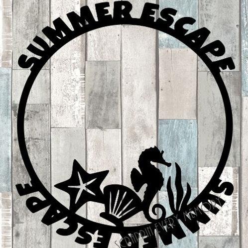 Summer Escape Scrapbook Overlay
