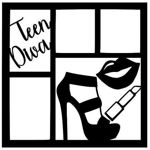 Teen Diva Scrapbook Overlay