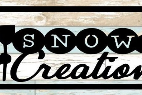 Snow Creations Scrapbook Title
