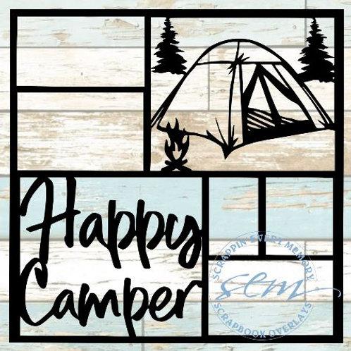 Happy Camper Scrapbook Overlay