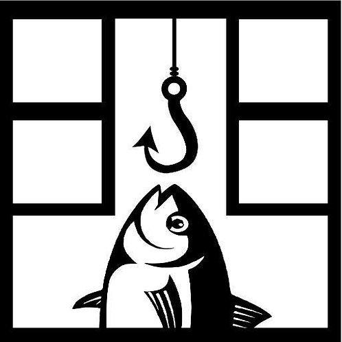 Fish & Hook Scrapbook Overlay