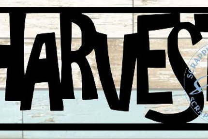 Harvest Scrapbook Title