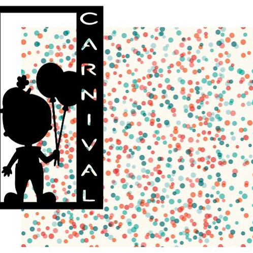 Carnival Vertical Scrapbook Title
