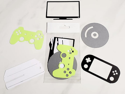 Video Gaming Die Cut Silhouette Mini Set