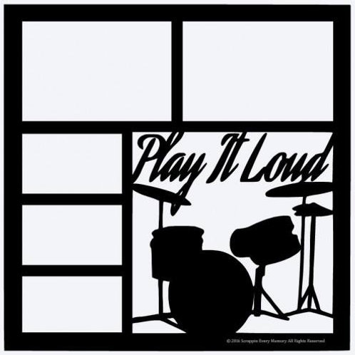 Play It Loud Scrapbook Overlay