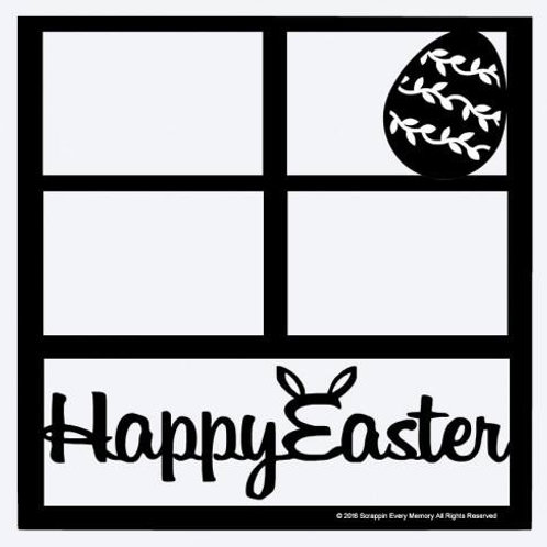 Happy Easter Scrapbook Overlay