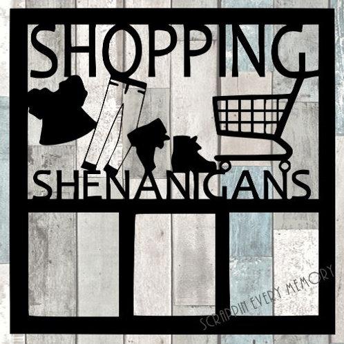 Shopping Shenanigans Scrapbook Overlay