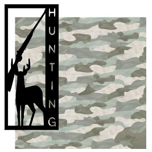 Hunting Vertical Scrapbook Title