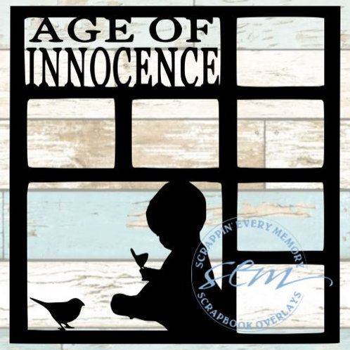 Age Of Innocence Scrapbook Overlay