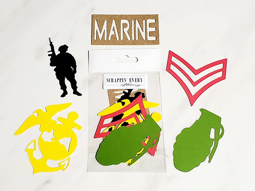 Marine Die Cut Silhouette Mini Set