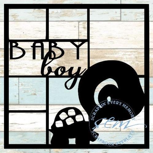 Baby Boy Scrapbook Overlay