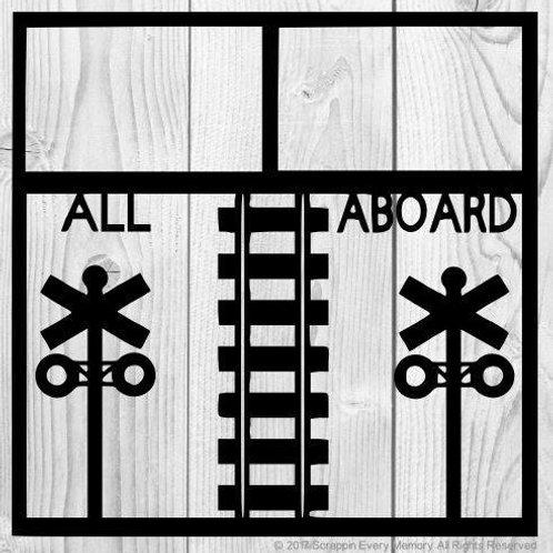 All Aboard Scrapbook Overlay