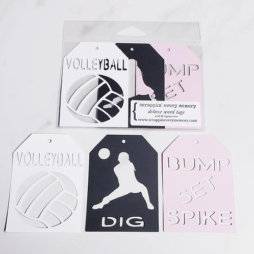 Volleyball Deluxe Word Tags