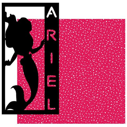 Ariel Vertical Scrapbook Title