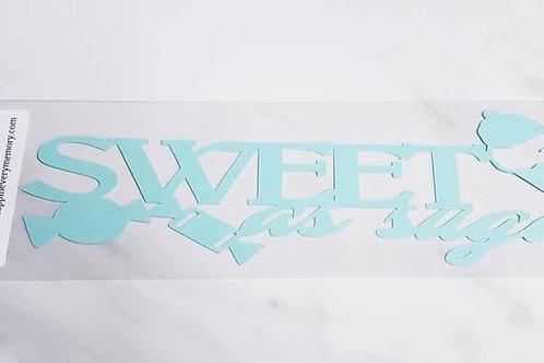 Sweet As Sugar Scrapbook Deluxe Die Cut