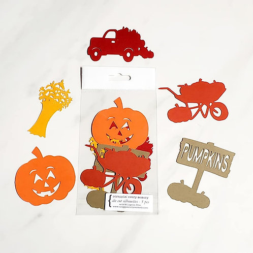 Fall Pumpkin Scene Die Cut Silhouette Mini Set