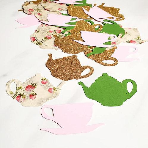 Teapots Scrapbook Page Confetti