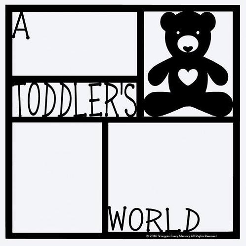 A Toddler's World Scrapbook Overlay