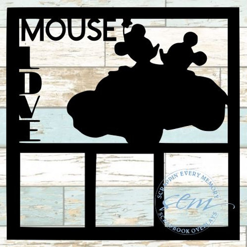 Mouse Love Scrapbook Overlay