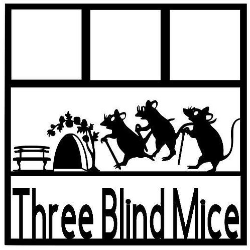 Three Blind Mice Scrapbook Overlay