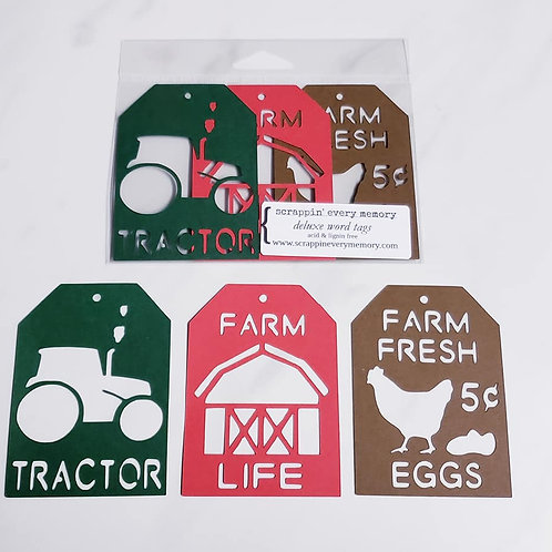 Farm Life Deluxe Word Tags