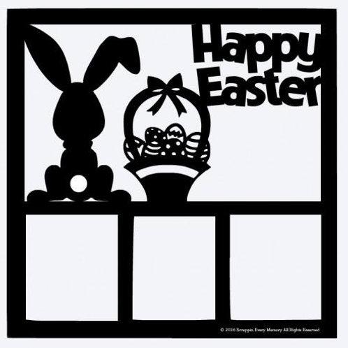 Happy Easter Scrapbook Overlay