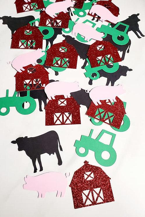 Farm Theme Scrapbook Page Confetti