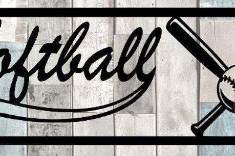 Softball Scrapbook Title