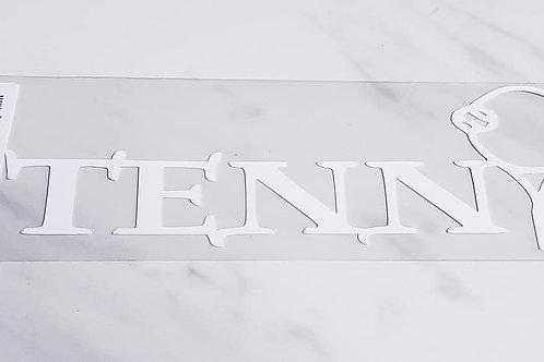 Tennis Scrapbook Deluxe Die Cut