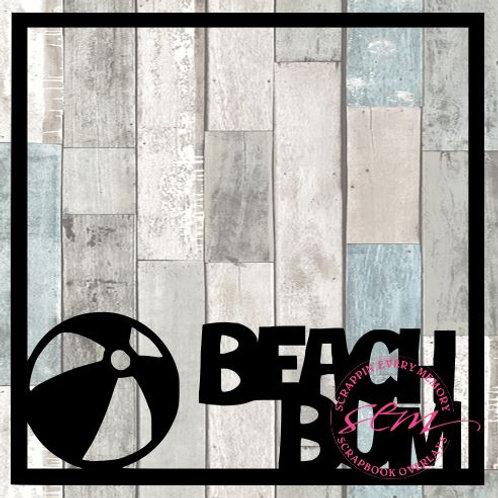 Beach Bum Scrapbook Overlay