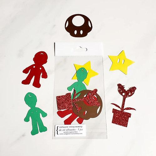 Super Mario Bros. Die Cut Silhouette Mini Set