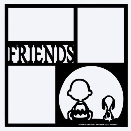 Charlie Brown & Snoopy Friends Scrapbook Overlay