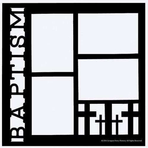 Baptism Scrapbook Overlay