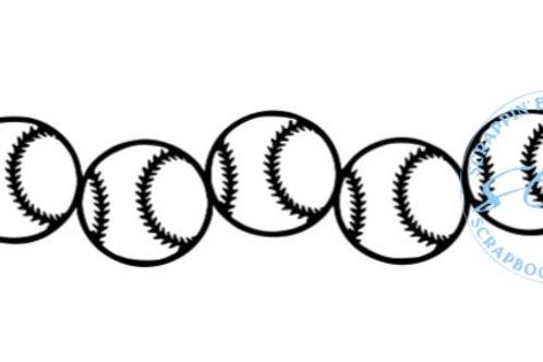 Baseballs Scrapbook Border