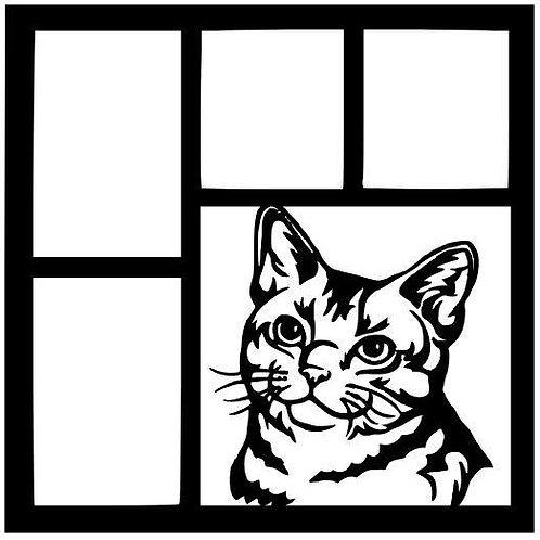 Cat Face Scrapbook Overlay