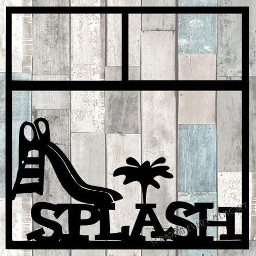 Splash Scrapbook Overlay