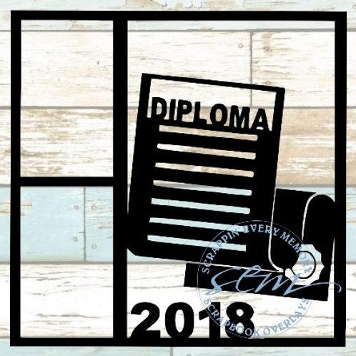 Diploma 2018 Scrapbook Overlay