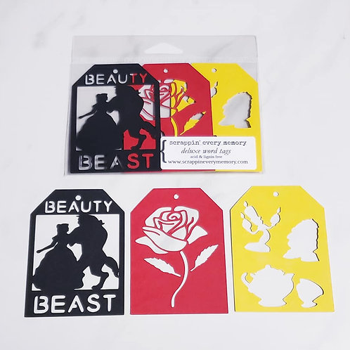 Beauty And The Beast Deluxe Word Tags
