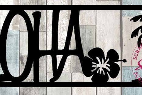 Aloha Scrapbook Title
