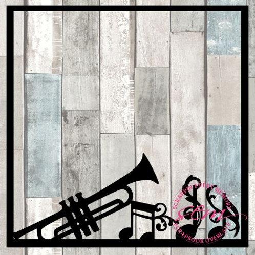Trumpet Music Notes Scrapbook Overlay