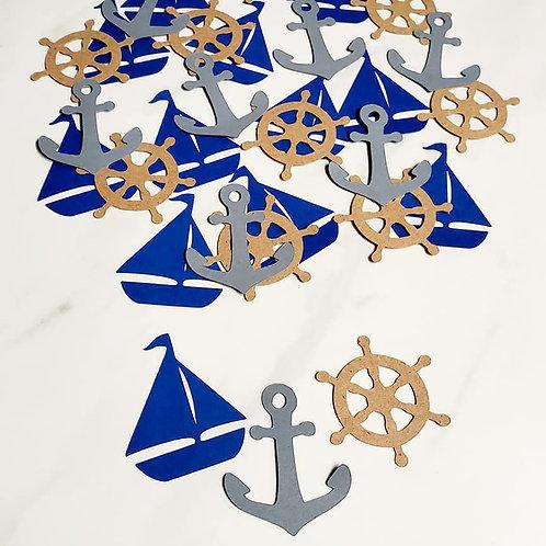 Sailing Scrapbook Page Confetti