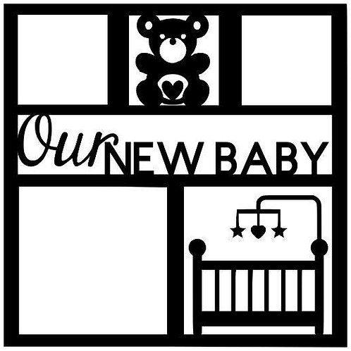 Our New Baby Scrapbook Overlay