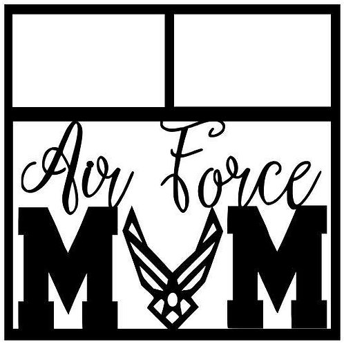 Air Force Mom Scrapbook Overlay