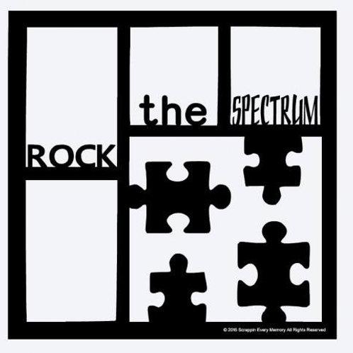 Rock The Spectrum Scrapbook Overlay
